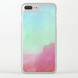 Sunset To Whangamata: Mars Edition Clear iPhone Case