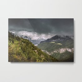 Storm in the Dolomites Metal Print