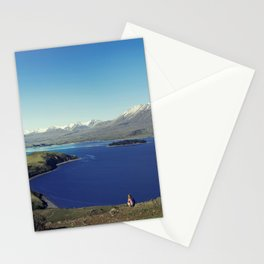 She felt tiny in Lake Tekapo Stationery Cards