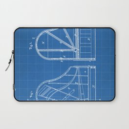 Steinway Grand Piano Patent - Piano Player Art - Blueprint Laptop Sleeve