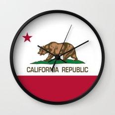 California Republic Flag, High Quality Image Wall Clock
