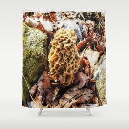Morel Mushroom in the Wild Shower Curtain