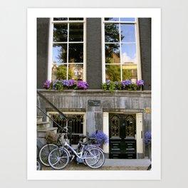 Shades of Purple in Amsterdam Art Print