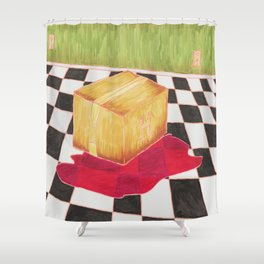 Green Room Incident Shower Curtain