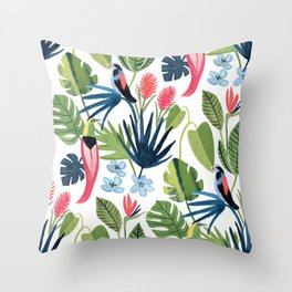 Tropical Rainforest Throw Pillow
