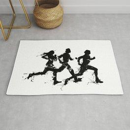 Runners in ink Rug