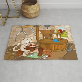 Puss in boots Rug