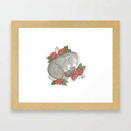 Momma & Baby Bunny Framed Art Print