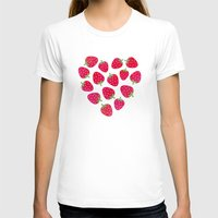 nutella T-shirts featuring STRAWBERRIES AND CHOCOLATE by Daisy Beatrice