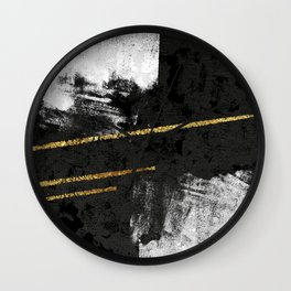 Gilded Grit Wall Clock