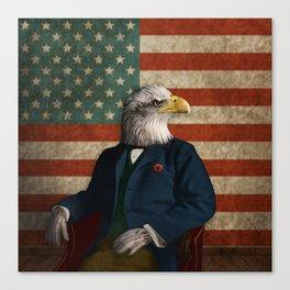 Official Portrait of Senator Silas Eagle Canvas Print