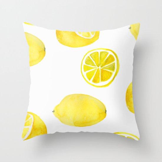 Lemon -ade Throw Pillow