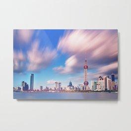 Shangai sky Metal Print