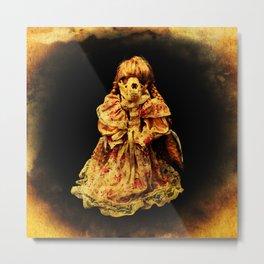 Halloween Horror In a Dress! Skull Doll Halloween Part 2 Metal Print