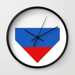 Russia flag Wall Clock