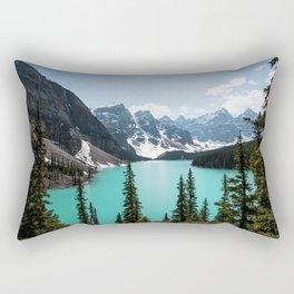 Moraine Lake Landscape Photography Rectangular Pillow