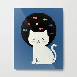 Cats Fantasy Metal Print