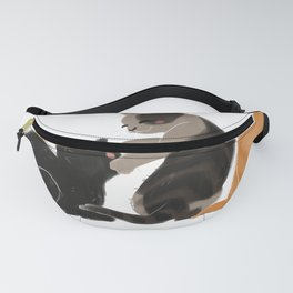 Cats Playing furniture Design by diegoramonart Fanny Pack