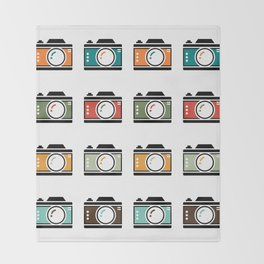 Colourful Camera Icons Throw Blanket