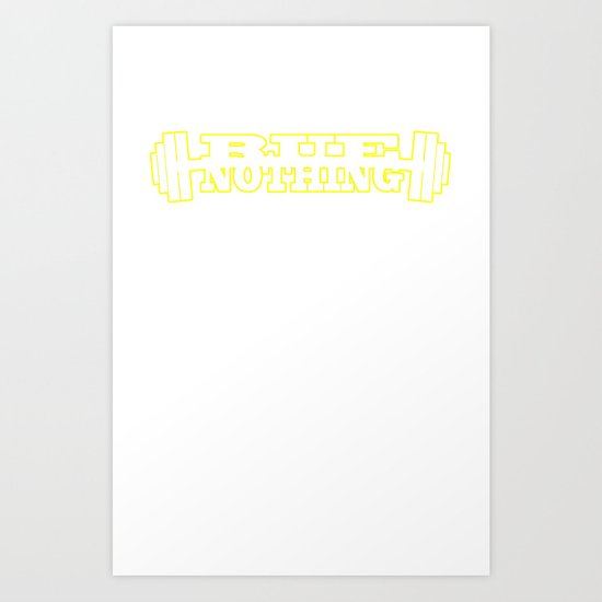 RUE NOTHING WEIGHTS YELLOW Art Print