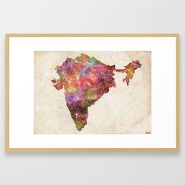 India map landscape Framed Art Print