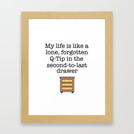 Carrie Fisher Q-Tip Quote Framed Art Print