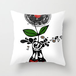 Cool Enchanting Vinyl Records Pop Music - Retro Vintage Throw Pillow