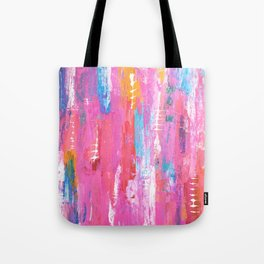 Abstract pink with fish bones Tote Bag
