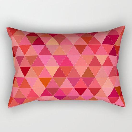 Red triangle tiles Rectangular Pillow