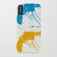 guns iPhone & iPod Cases featuring Guns by Chloe Bromfield