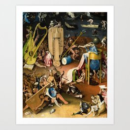 The Garden of Earthly Delights - Bosch - Hell Bird Man Detail Art Print
