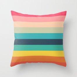 Colorful Timeless Stripes Totetsu Throw Pillow