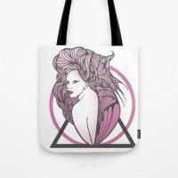 artpop Tote Bags featuring Artpop  by Clare Corfield Carr