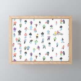 pattern with crowd of People  Framed Mini Art Print