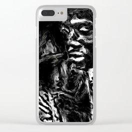 Cabsink17DesignerPatternBLM Clear iPhone Case