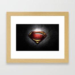 Superman Krypton Symbols Framed Art Print