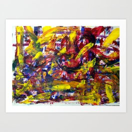 Blind Painting Art Print