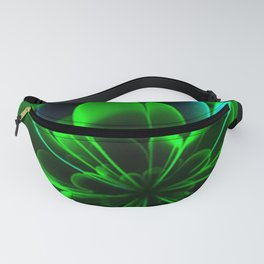 Abstract Green Flower Fanny Pack