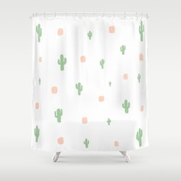 Cactus Pattern - loose Shower Curtain