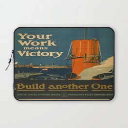 Vintage poster - Your Work Means Victory Laptop Sleeve
