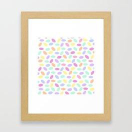 Pastel Jellybeans Framed Art Print