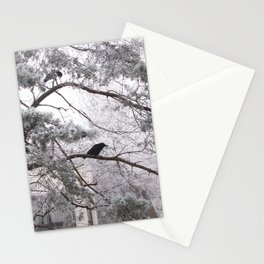 Winter crow. Stationery Cards