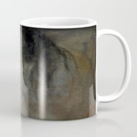 imagerybydianna Mugs featuring pour se cacher des larmes by Imagery by dianna