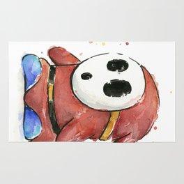 Shy Guy Watercolor Mario Art Rug