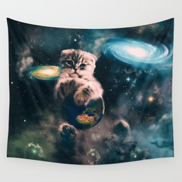 Space Puss saves the World Wall Tapestry