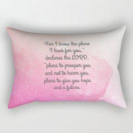 Jeremiah 29:11, Encouraging Bible Verse Rectangular Pillow