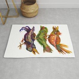 Three Birds Totem Rug