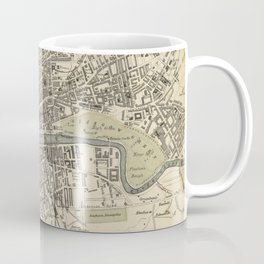 Vintage Map of Glasgow Scotland (1872) Coffee Mug