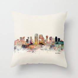new orleans skyline Throw Pillow