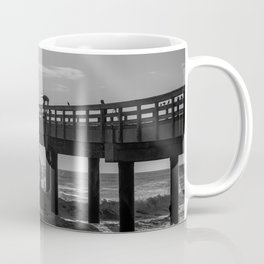 Fishermen on a Pier Coffee Mug